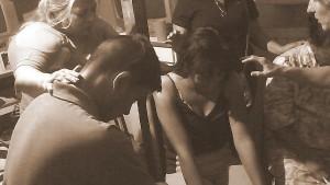 Praying over Gerardo and Lupe
