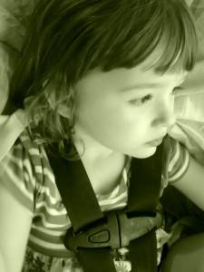 Karina in her carseat